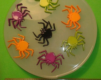 SPIDER Spiders SILICONE MOULD polymer clay fimo flower resin flexible cupcake chocolate icing metal clay mold