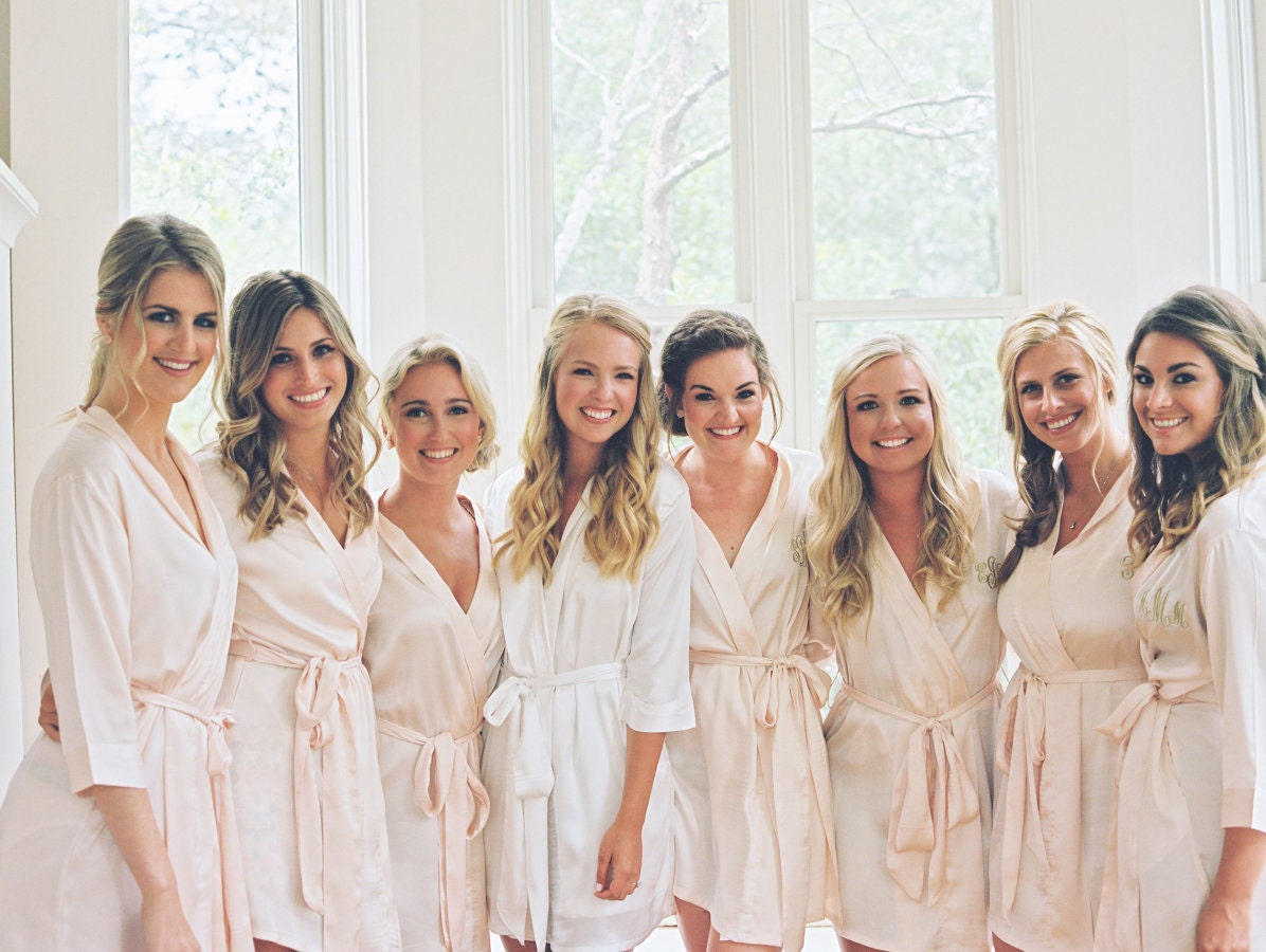 bridesmaid robes set of 8 bridesmaids robes by sandywatersstore