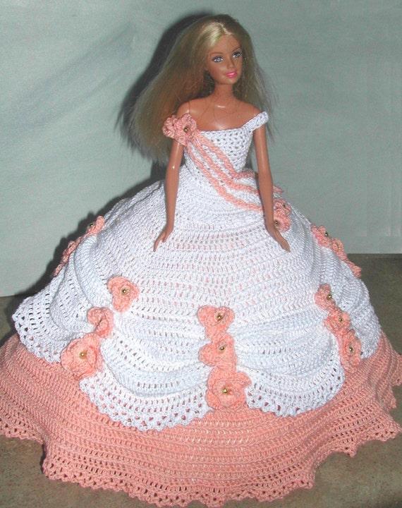 Crochet Fashion Doll Barbie Pattern 635 Cotillion Ball Gown
