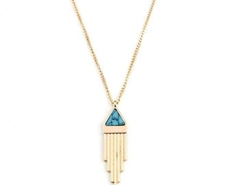Piper Howlite Pendant Necklace