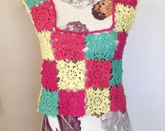 Crochet, crochet blouse top,