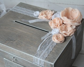 Wedding Card Box - Rustic Wooden Card Box - Rustic Wedding Card Box - Rustic Weddings - Advice Box - Card Box - Wedding Gift