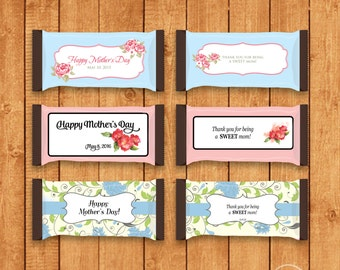 Customized Mother's Day Candy Bar Wrapper for Hershey Bars - You Print