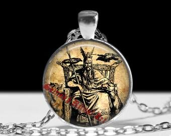 Odin pendant, Odin necklace, viking amulet, viking jewelry, pagan necklace, magic pendant, nordic jewelry, norse mythology #237