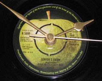 "Paul McCartney & Wings Junior's farm  7"" vinyl record clock"