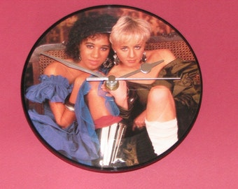 "Pepsi & Shirlie Heartache  7"" picture disc record clock"