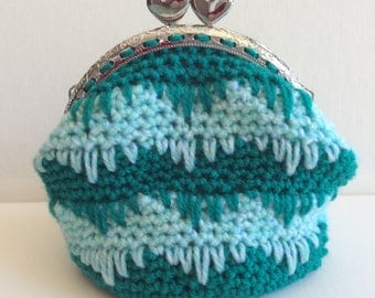 Crocheted Purse or Makeup Bag