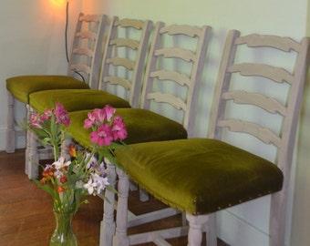 Shabby Chic Farmhouse Rustic Chairs x 4