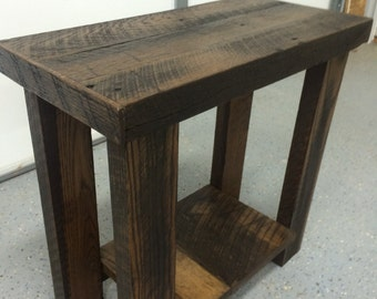 Reclaimed Wood Side Table, End Table, Printer Table, Night Stand !