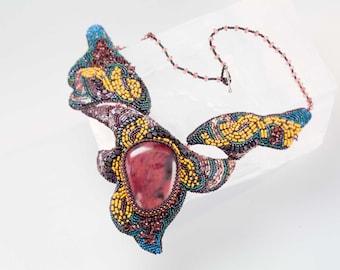 Beaded unique necklace