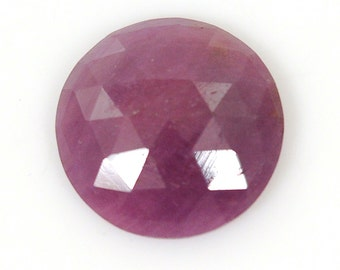 8.20cts 100% Natural Pink Sapphire Gemstone Round Rose Cut Slice 15.5mm For Ring