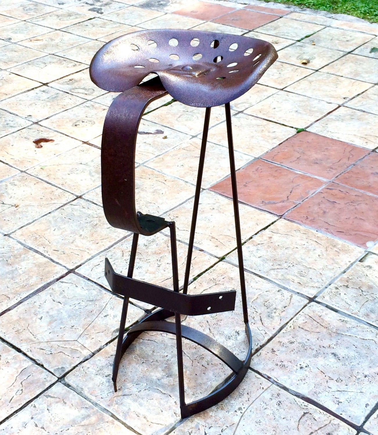 Used Metal Tractor Seats : Vintage tractor seat director s chair bar stool
