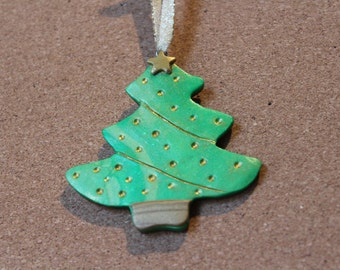 Polymer Clay Christmas Tree Ornament