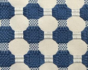 Woven Navy Dot Modern Upholstery Fabric - Geometric Upholstery Fabric - Designer Fabric