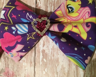 My Little Pony inspired hair bow
