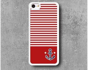 iPhone 5C Case Red Anchor Marine