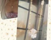 Druzy necklace...14kt gold fill