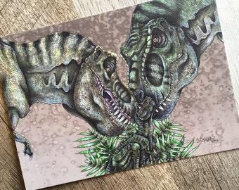 T. rex / Tyrannosaurus rex Family Print