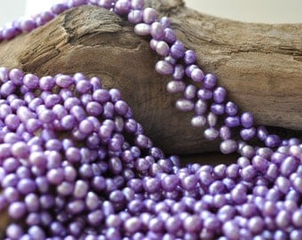 "Lavender Freshwater Top Drilled Pearl 7-8 mm 16"" Strand* Close Out*"