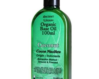 100ml Organic Base Oil - 100% Pure - COCONUT Base Oil