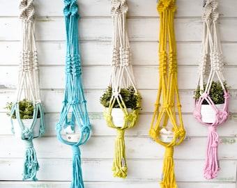 Set of 3 macrame plant hangers