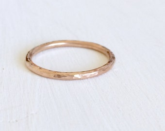 Rose gold wedding ring, 9ct rose gold wedding ring, solid rose gold fine band, rose gold wedding band, thin rose gold ring, delicate band