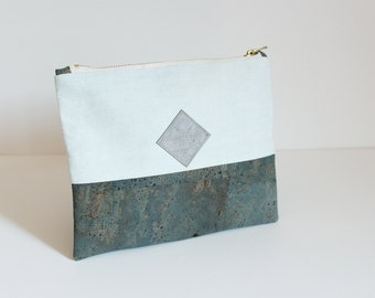 clutch, cork clutch, bag vegan, vegan clutch, minimal clutch, mint clutch