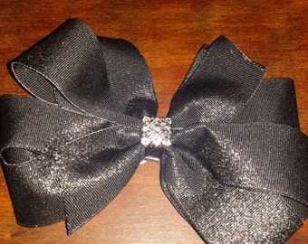 Black bow with shimmery glitter