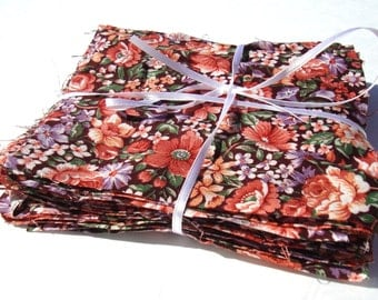 """Lot of 40 5"""" Quilting Squares Floral Pattern"""