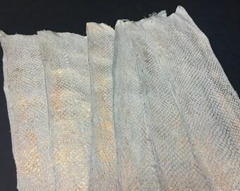 Salmon Suede Leather - Metallic