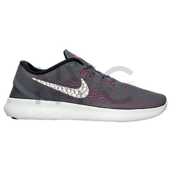 e61d49c4865a 30%OFF Blinged Nike Free RN 2016 Dark Grey Swarovski Crystal by NYCustoms