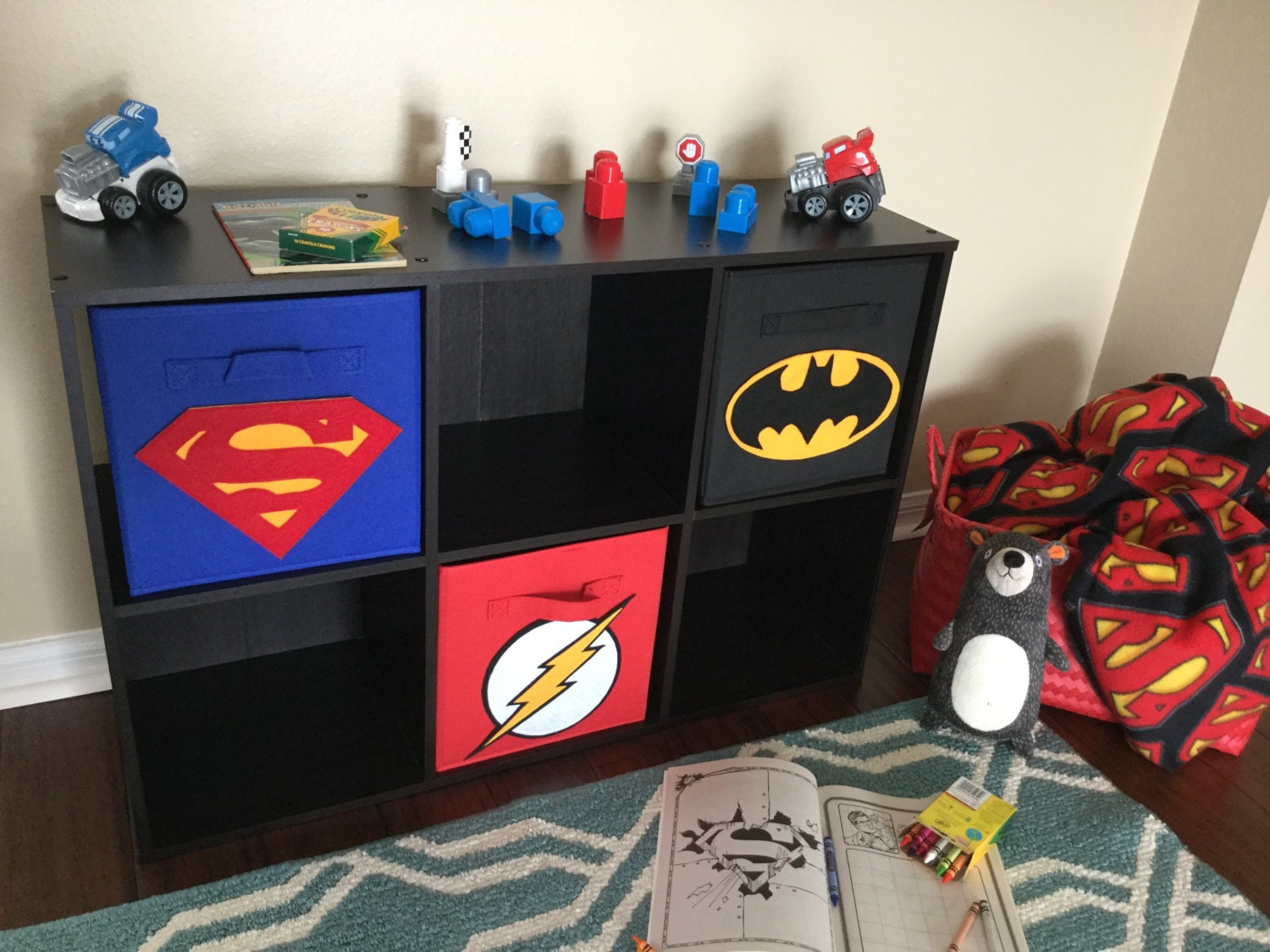 Superhero Storage Bin Set Of THREE Superman By
