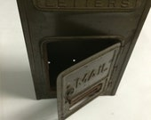 "Vintage Corbin Cabinet & Lock Co. Wall Mailbox Letter Slot with lock no key 10 1/2"" x 6"" x 3"" slot is 4 1/2"""