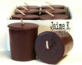 Christmas Cabernet Votive Candles 15 Hour Soy Candles 6 Pack