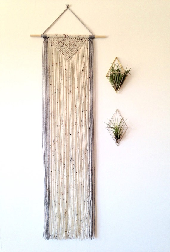 Macrame Wall Hanging Long Wall Hanging Geometric Wall Decor
