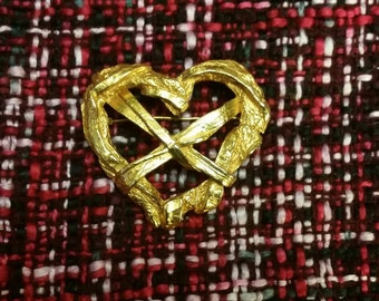 Vintage Christian Lacroix Brooch Heart Pin