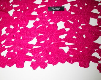 3.3 meters of Valentino inspired lace fabric in fuscia