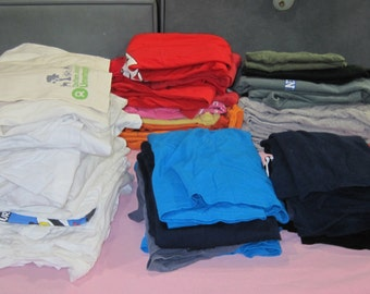Lot of 60 T-shirts for Crafts T-yarn Making