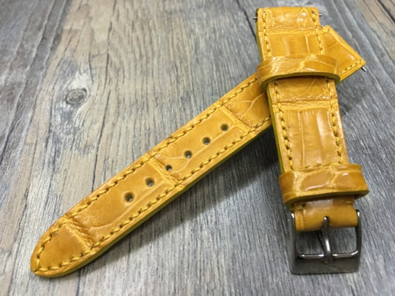 Real Alligator skin leather Strap for Rolex, IWC - 20mm/16mm (lug/Buckle width), Best Quality!