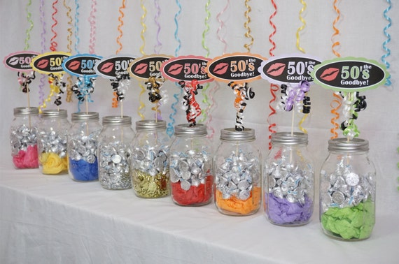 60th birthday decoration available in 9 colors 60th candy for 60th birthday decoration