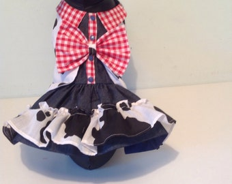Cowgirl fancy dress costume for all small breed  dogs