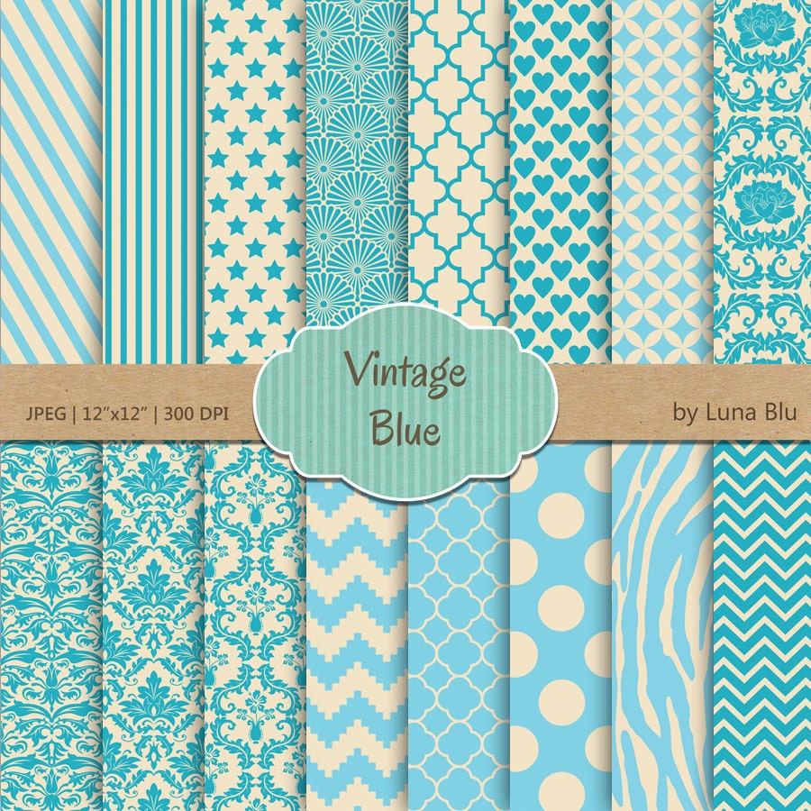 Scrapbook paper blue