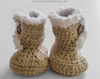 Crochet UGG Boots with Faux Fur