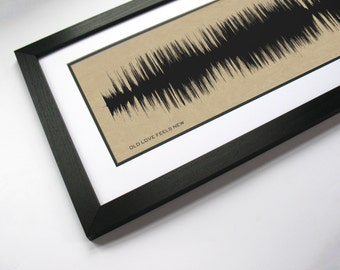 "Chris Young ""Old Love Feels New""  - Sound Wave Canvas Wall Art Design. Made from entire song recording."