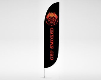 Custom Feather Flags 2' x 7.58' Single Sided