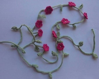 Hair band crochet flowers