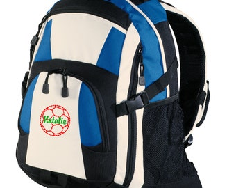 Personalized Backpack Embroidered Back Pack Custom Backpack - Sports - Soccer - BG77