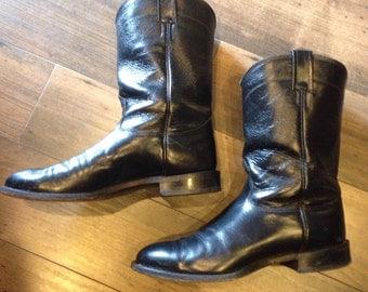 Men's Nocona cowboy boots 9EE | black leather cowboy boots | size 9 wide