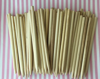 100 Wooden Skewers Candy Apple Sticks Caramel Apple Sticks Cookie Sticks Cake Pop Sticks Dessert Stick Pointed Candy Stick Corn Dog Stick