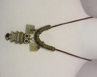 Copper Wire Owl necklace by Handmade